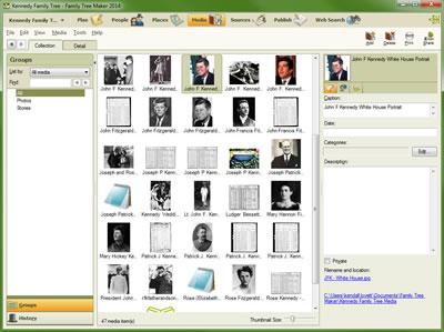 Family Tree Maker 2014 Report Screenshot