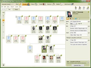 Family Tree Maker 2014 Family Tab Screenshot