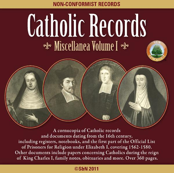 Catholic Records: Miscellanea Volume 1