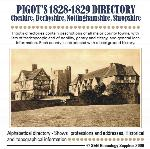 Cheshire, Derbyshire, Nottinghamshire and Shropshire 1828-1829 Pigot's Directory