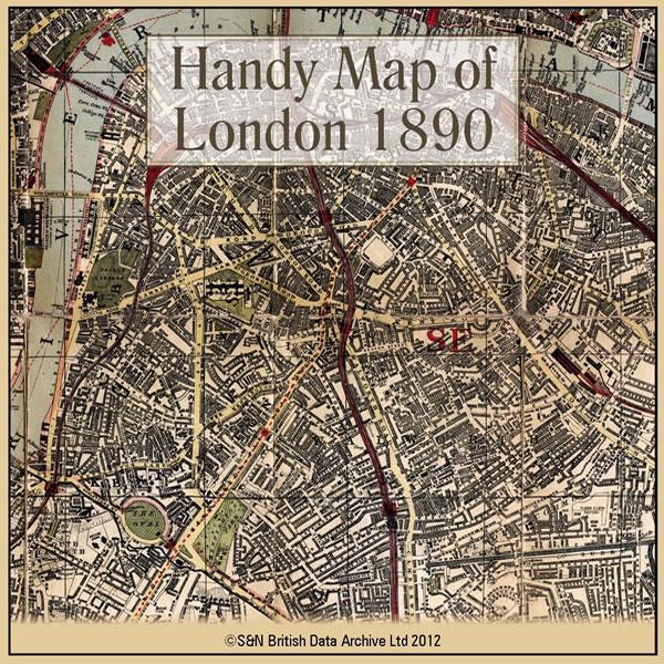 Map F London.London Handy Map Of London C 1890
