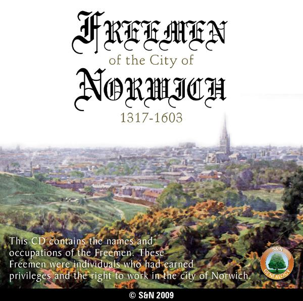 Norwich History genealogy and Norfolk directories in 35 pdf ebooks on a disc