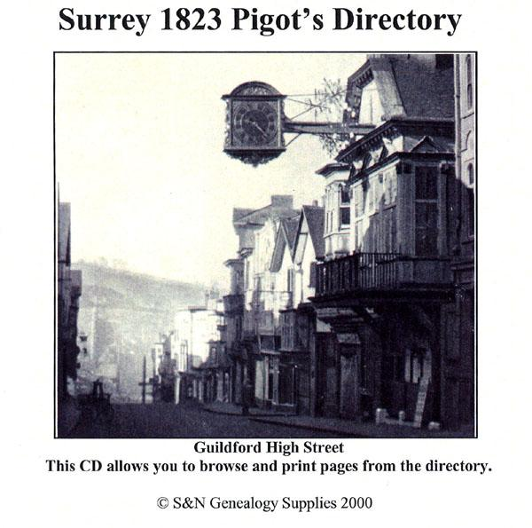 Croydon Related History and Surrey Directories in pdf ebooks history on disc