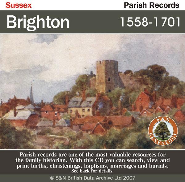 Sussex, Brighton Parish Registers 1558-1701