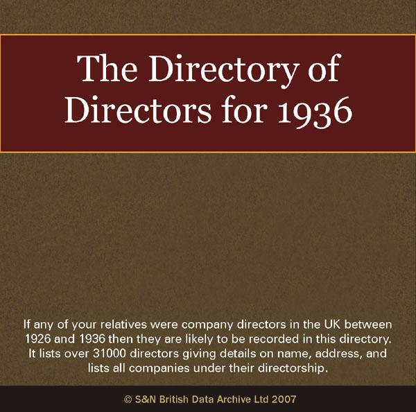 The Directory of Directors 1936