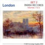 London Registers Set 2 - Volumes 1 to 5