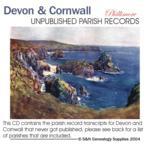 Devon & Cornwall - Previously Unpublished Phillimore Parish Records