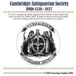 Cambridgeshire, Cambridge Antiquarian Society, St. Michael's Parish BMDs 1538-1837