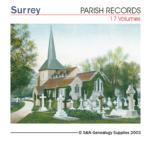 Surrey Parish Records  Volumes 1-9, 11-15, & 3 extra vols